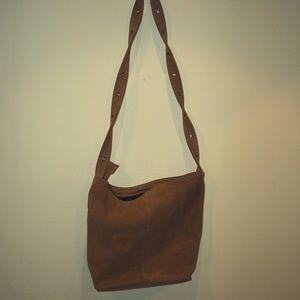 Tan/brown, suede bag